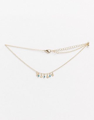 Saint Lola gold plated bead detail choker necklace