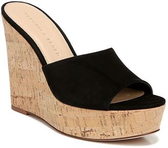 Veronica Beard Dali Suede Platform Wedge Sandals