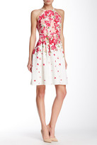 Adrianna Papell Floral Pleated Dress (Regular & Petite)