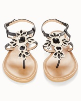 Soma Intimates Black Stone Flat Sandals
