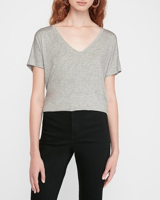 Express Heathered V-Neck London Tee