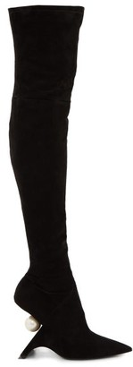 Nicholas Kirkwood Jazelle Over-the-knee Suede Boots - Womens - Black