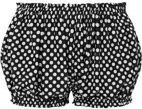 Norma Kamali Polka-dot Woven Shorts