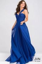 Jovani Ruched Bodice Chiffon Prom Dress JVN22066