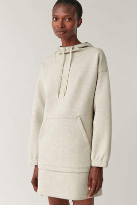 Cos SCUBA HOODED DRESS