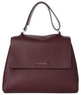 Orciani Medium Sveva Soft Leather Top Handle Satchel - Purple