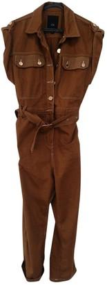 River Island Brown Cotton Jumpsuit for Women