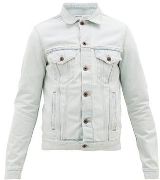 Off-White Logo-print Cotton Denim Jacket - Light Blue