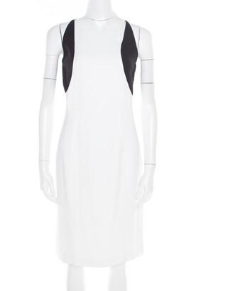 Jil Sander Monochrome Colorbolock Sleeveless Sheath Dress M