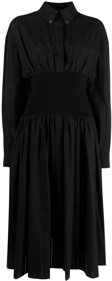 Thumbnail for your product : Alexandre Vauthier Elasticated Shirt Dress
