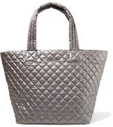 MZ Wallace Metro Medium Quilted Shell Tote - Silver