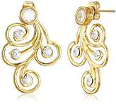 A.V. Max Spiral Front Back Post Earrings
