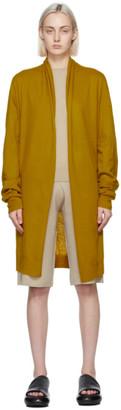 Frenckenberger Yellow Cashmere Straight Cardigan