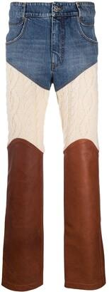 Telfar Patch Straight-Leg Jeans