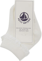 Petit Bateau Lace trim cotton socks