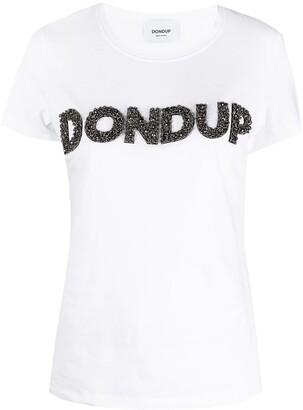 Dondup bead-embellished logo T-shirt