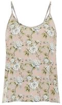 Robert Rodriguez Floral Printed Silk Camisole