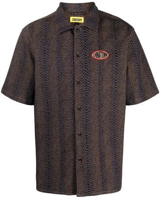 Chinatown Market Snake Print Short-Sleeved Shirt
