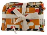Orla Kiely Multi Olive/Big Tulip 3 Piece Purse Kit Set Cosmetic Bag