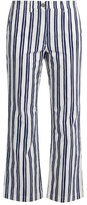 MiH Jeans Coler striped cropped trousers