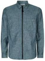 Stone Island Zipped Chambray Shirt