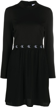 Calvin Klein Jeans Logo Embroidered Mini Dress