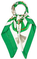 Hermes Aux Champs Silk Scarf
