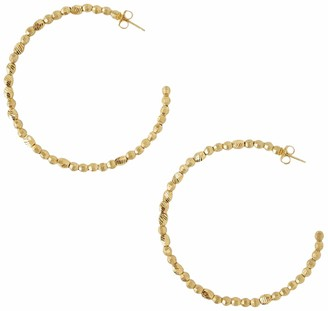 Chan Luu 18K Yellow Gold Plated Nugget Hoop Earrings