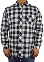 PHOENISING Men's Flannel Plaid Shirt Long Sleeve Casual Dress shirts
