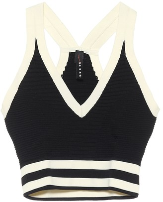Adam Selman Sport Ribbed-knit crop top