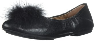 Gentle Souls by Kenneth Cole Women's Portia Ballet Flat with Feather Pom