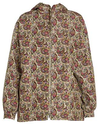 Prada Silk Faille Paisley Anorak Jacket