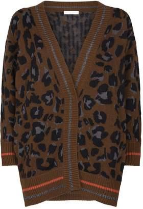 Fabiana Filippi Leopard Lurex Trim Cardigan