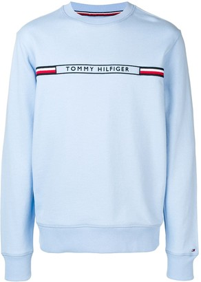Tommy Hilfiger logo embroidered sweatshirt