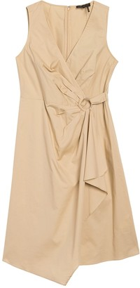 DKNY Ring Side Mock Wrap Dress