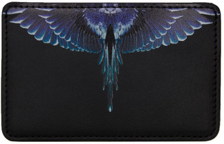 Marcelo Burlon County of Milan Black and Blue Ghost Wings Card Holder