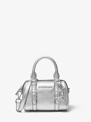 MICHAEL Michael Kors Bedford Legacy Extra-Small Metallic Leather Duffel Crossbody Bag