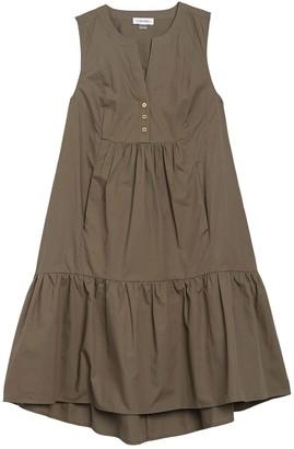 Calvin Klein Sleeveless Ruffle Hem Midi Dress
