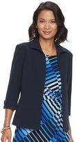 Dana Buchman Women's Cuffed Open-Front Jacket