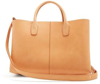 Mansur Gavriel Light-pink Lined Folded Leather Bag - Womens - Light Tan