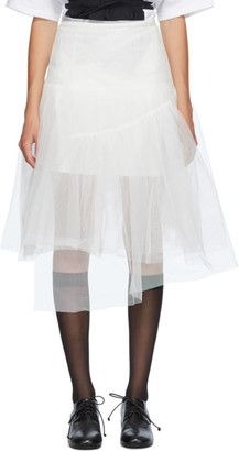 SHUSHU/TONG SSENSE Exclusive White Two-Layer Skirt