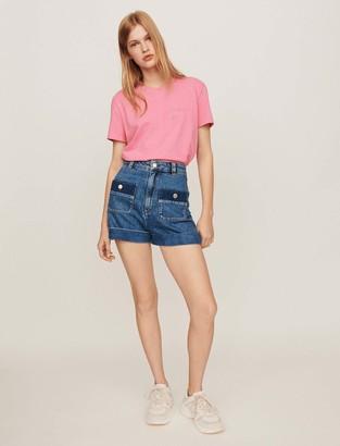 Maje Wide jean shorts with pockets