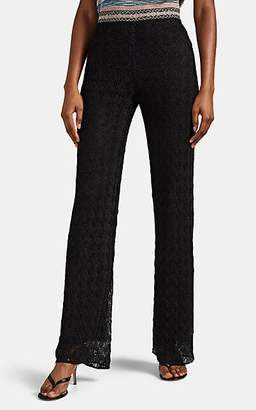Missoni Women's Metallic Crochet Wide-Leg Pants - Black