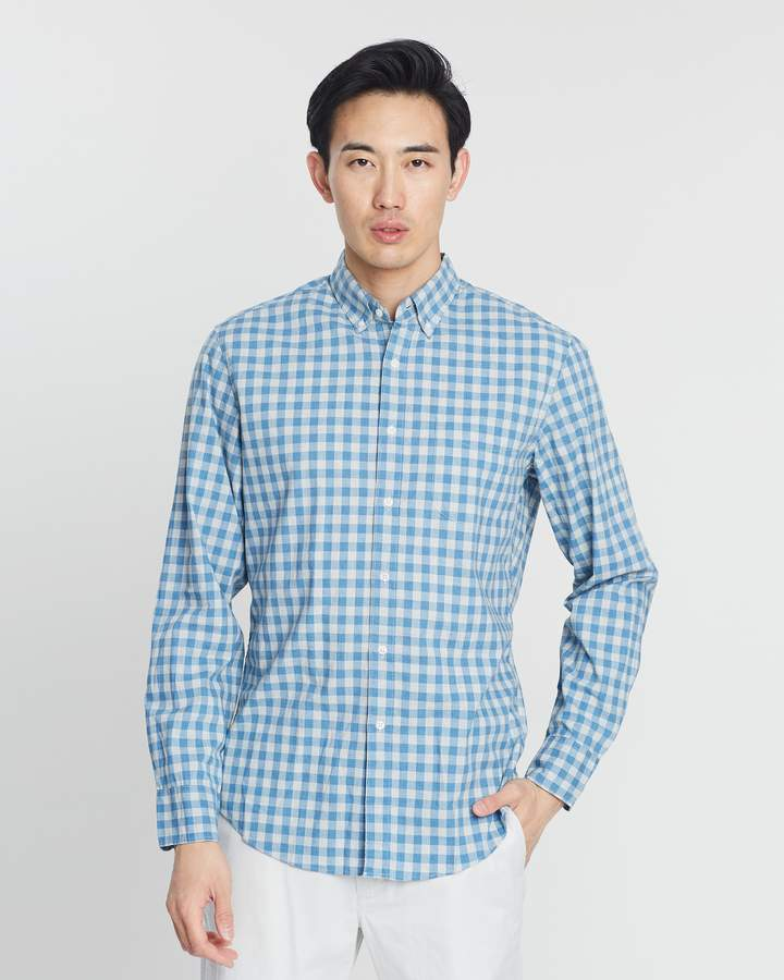 J.Crew Stretch Secret Wash Gingham Shirt