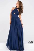 Jovani Halter Neck Ruched Bodice Empire Waist Dress JVN47771