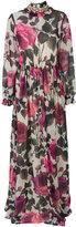 Blugirl rose print high neck maxi dress