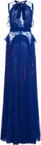 Elie Saab Sleeveless Pleated Gown