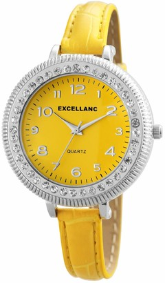 Excellanc Womens Analogue Quartz Watch with Leather Strap 1.93025E+11
