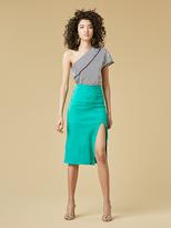 Diane von Furstenberg Suede Pencil Skirt