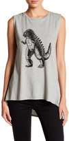 French Connection Dinosaur Graphic Print Tank